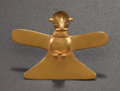 Pre-Columbian:Metal/Gold, A COCLE GOLD EAGLE WITH OUTSPREAD WINGS. c. 700 - 900 AD...