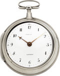 Timepieces:Pocket (pre 1900) , French Unusual Verge With Tobias Dial, circa 1815. ...