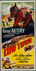 """Movie Posters:Western, Cow Town (Columbia, 1950). Three Sheet (41"""" X 80""""). Western.. ..."""