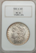 Morgan Dollars: , 1883-O $1 MS64 NGC. NGC Census: (43161/10642). PCGS Population(35515/7972). Mintage: 8,725,000. Numismedia Wsl. Price for ...