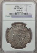 Morgan Dollars, 1899 $1 -- Stained -- NGC Details. AU. NGC Census: (49/8159). PCGSPopulation (102/10732). Mintage: 330,846. Numismedia Wsl...