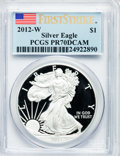Modern Bullion Coins, 2012-W $1 One-Ounce Silver American Eagle, First Strike PR70 DeepCameo PCGS. PCGS Population (4754). NGC Census: (13321). ...