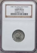 Civil War Patriotics, (1861-65) Army & Navy, Civil War Token MS63 NGC. Fuld-54/296e,R.8....