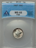 Mercury Dimes, 1927 10C MS65 Full Bands PCGS. PCGS Population (213/122). NGCCensus: (85/34). Mintage: 28,080,000. Numismedia Wsl. Price f...