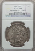 Morgan Dollars, 1892-S $1 -- Improperly Cleaned -- NGC Details. VF. NGC Census:(59/2736). PCGS Population (138/3137). Mintage: 1,200,000. ...