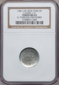 Civil War Merchants, (1861-65) G. Parsons Fireworks, New York NY MS63 NGC.Fuld-NY630BE-11e, R.9. Struck slightly off center....