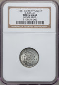Civil War Merchants, (1861-65) Broas Brothers, New York NY MS62 NGC. Fuld-NY630L-4e,R.7. Broadstruck....