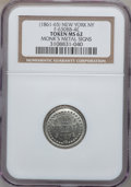 Civil War Merchants, (1861-65) Monk's Metal Signs, New York NY MS62 NGC.Fuld-NY630BB-4e, R.9. Double-struck....