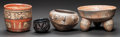 Pre-Columbian:Ceramics, FOUR MAYA VESSELS. c. 600 - 900 AD. ... (Total: 4 Items)