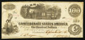 Confederate Notes:1862 Issues, T40 $100 1862 PF-5 Plate State II Cr. 300.. ...