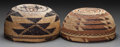 American Indian Art:Baskets, TWO HUPA TWINED MAIDEN'S CAPS... (Total: 2 )