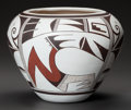 American Indian Art:Pottery, A HOPI POLYCHROME JAR. Joy Navasie (Frog Woman)...