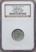 Civil War Merchants, 1863 Charles A. Luhrs, New York NY MS63 NGC. Fuld-NY630AR-1e, R.9.Raised rim....