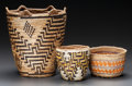 American Indian Art:Baskets, THREE NORTHWEST COAST BASKETS... (Total: 3 )