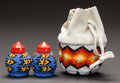 American Indian Art:Beadwork and Quillwork, THREE PLATEAU BEADED ITEMS. c. 1950... (Total: 3 )