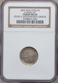 Civil War Merchants, 1863 Story & Southworth Grocer, New York NY MS64 NGC.Fuld-NY630BV-19c, R.9. Misattributed by NGC as Fuld-NY630BV-4c....