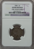Liberty Nickels, 1886 5C -- Obverse Scratched -- NGC Details. Good. NGC Census:(61/430). PCGS Population (71/777). Mintage: 3,330,290. Numi...