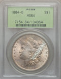 Morgan Dollars: , 1884-O $1 MS64 PCGS. PCGS Population (63396/14296). NGC Census:(77702/19444). Mintage: 9,730,000. Numismedia Wsl. Price fo...