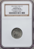Civil War Merchants, 1863 William Hasting, New York NY MS62 NGC. F-630AI-1g, R.2.Cud....
