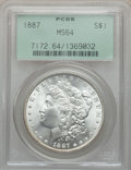 Morgan Dollars: , 1887 $1 MS64 PCGS. PCGS Population (54960/16256). NGC Census:(76275/29319). Mintage: 20,290,710. Numismedia Wsl. Price for...
