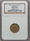 Civil War Patriotics, 1863 Industry Civil War Token MS64 NGC. Fuld-188/435b, R.8....
