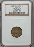 Civil War Merchants, 1863 C.E. Graff, Milwaukee WI MS64 NGC. Fuld-WI510O-3b, R.8....