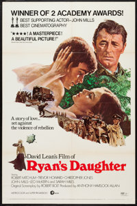 "Ryan's Daughter (MGM, 1970). One Sheet (27"" X 41"") Style C. Drama"