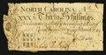 Colonial Notes:North Carolina, North Carolina March 9, 1754 30s Fine-Very Fine.. ...