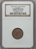 Civil War Patriotics, 1863 Army & Navy Civil War Token -- Partial Collar -- MS63Brown NGC. Fuld-23/306a, R.1....