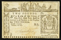 Colonial Notes:New York, New York February 16, 1771 £2 Very Fine.. ...