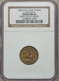 Civil War Patriotics, 1864 Hero Of Pea Ridge, Civil War Token MS64 NGC. Fuld-180/343b,R.8....