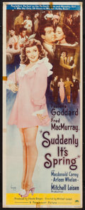 "Movie Posters:Comedy, Suddenly It's Spring (Paramount, 1946). Insert (14"" X 36""). Comedy.. ..."