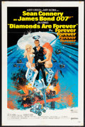 "Movie Posters:James Bond, Diamonds are Forever (United Artists, 1971). One Sheet (27"" X 41"").James Bond.. ..."