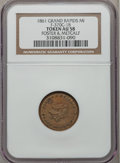 Civil War Merchants, 1861 Foster & Metcalf, Grand Rapids MI AU58 NGC.Fuld-MI370C-1b, R.4....
