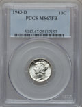 Mercury Dimes: , 1943-D 10C MS67 Full Bands PCGS. PCGS Population (621/25). NGCCensus: (593/11). Mintage: 71,949,000. Numismedia Wsl. Price...