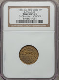 Civil War Merchants, (1861-65) G. Graham, Liquors, New York NY MS63 NGC.Fuld-NY630AE-1b, R.7....