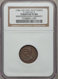 Civil War Patriotics, (1861-65) Knickerbocker Currency, Civil War Token AU55 NGC.Fuld-138/255a, R.2....