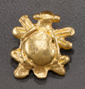 Pre-Columbian:Metal/Gold, A MINIATURE GOLD TURTLE PENDANT. c. 400 - 1000 AD...