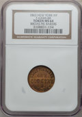 Civil War Merchants, 1863 Broas Pie Bakers, New York NY MS64 NGC. Fuld-NY630M-8b,R.3....