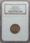 Civil War Merchants, 1863 Monk's Metal Signs, New York NY MS64 NGC. Fuld-NY630BB-7d,R.8....