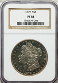 Proof Morgan Dollars, 1879 $1 PR58 NGC....