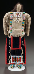 American Indian Art:Beadwork and Quillwork, A CROW BEADED HIDE MALE DOLL. c. 1910...