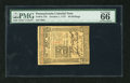 Colonial Notes:Pennsylvania, Pennsylvania October 1, 1773 50s PMG Gem Uncirculated 66. This is aspectacular quality Pennsylvania note that is very diffi...