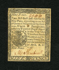 Colonial Notes:Pennsylvania, Pennsylvania April 10, 1777 9d Extremely Fine. The detail on thissmall change note is that of an Extremely Fine with three ...