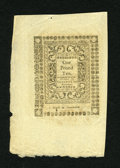 Colonial Notes:Rhode Island, Rhode Island May 1786 30s New. But for some minor edge handling anda small hole at the very top this is a lovely Choice New...