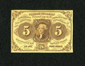 Fractional Currency:First Issue, Fr. 1230 5c First Issue Choice About New. A single faint center fold is all that keeps this bright and colorful type note fr...