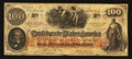 Confederate Notes:1862 Issues, T41 $100 1862 Ad Note.. ...