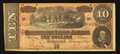 Confederate Notes:1864 Issues, Ad Note T68 $10 1864.. ...