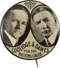 Political:Pinback Buttons (1896-present), Coolidge & Dawes: Highly Desirable Jugate....
