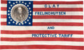 Political:Textile Display (pre-1896), Henry Clay: Spectacular 1844 Campaign Flag. ...